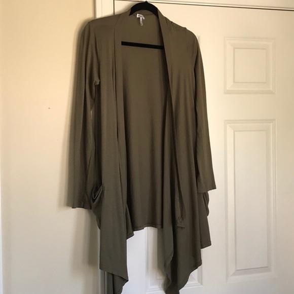 Splendid Other - Splendid Drape Front Cotton Cardigan